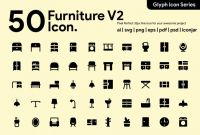 Template for Return Address Labels Free Awesome 50 Furniture Glyph Icon Icons Creative Market