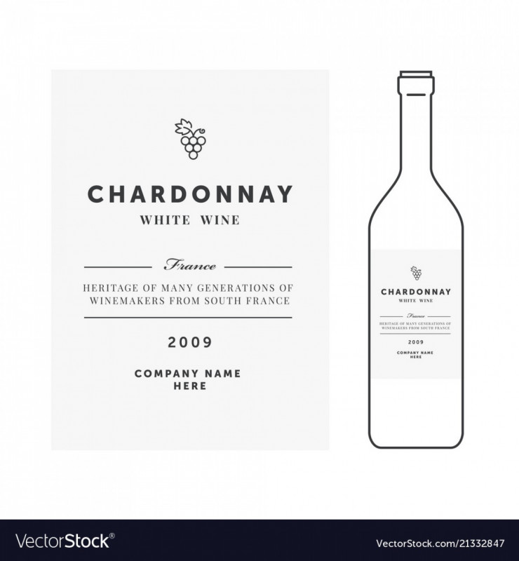Template For Wine Bottle Labels New 013 Wine Label Template Word Ideas White Premium Clean