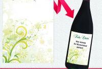Template for Wine Bottle Labels Unique Flaschen Etikett Frohe Ostern Motiv Ranken Bla¼ten