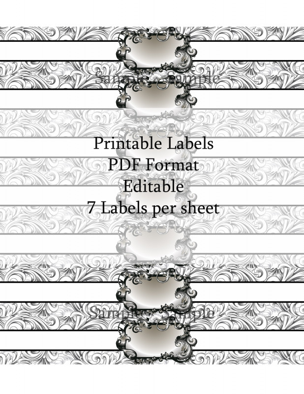 Templates For Labels For Jars Unique Gift Tag Label Template Gift Labels Template Free Printable