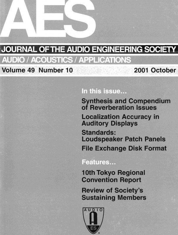 Ups Shipping Label Template New Aes E Library A Complete Journal Volume 49 Issue 10
