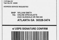 Ups Shipping Label Template New Printable Usps Shipping Label Template
