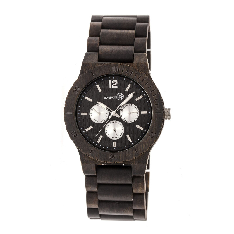 Usps Shipping Label Template New Details Zu Earth Wood Bonsai Mens Dark Brown Wood Bracelet Watch W Day Date Ew5302