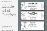 Water Bottle Label Template Free Word Unique Color Pages Pretty Labels Templates Splendi Photo Ideas