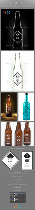 Wine Bottle Label Design Template Awesome Colorful Packaging Templates From Graphicriver