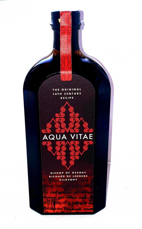 Wine Bottle Label Design Template Unique Aqua Vitae
