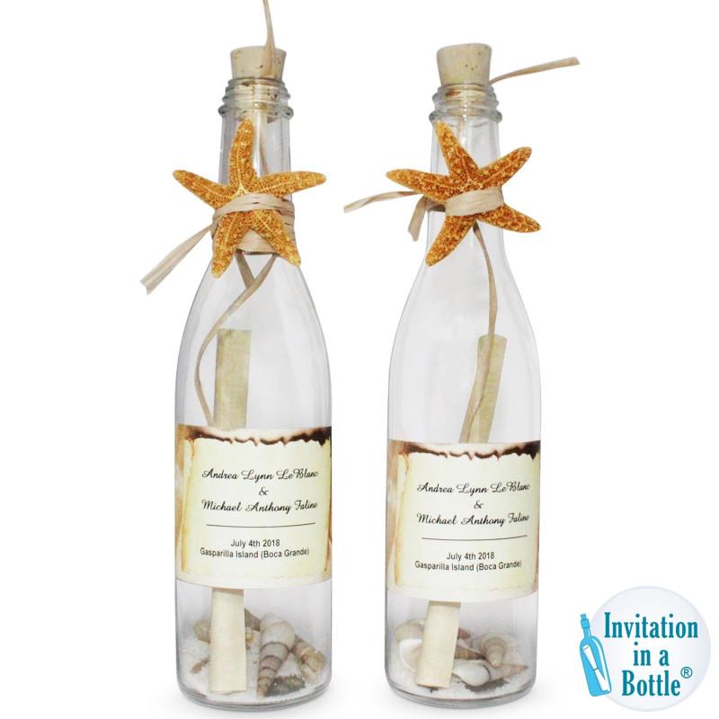 Wine Bottle Label Design Template Unique Starfish Glow Premium Bottle