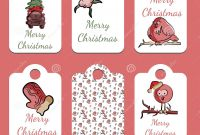 Xmas Labels Templates Free Unique Set Of Christmas Tags In Vector Stock Vector Illustration