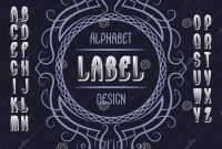 Z Label Template Awesome Vintage Label Template In Patterned Frame isolated Logo