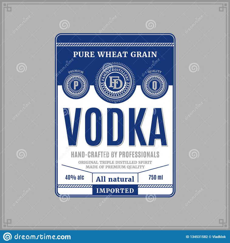 Z Label Template New Vodka Label Template Stock Vector Illustration Of Beverage