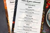 4th Of July Menu Template Unique Menugo Restaurant Menu Templates