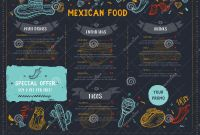 50s Diner Menu Template Awesome Mexican Food Restaurant Menu Template Design With Sketch
