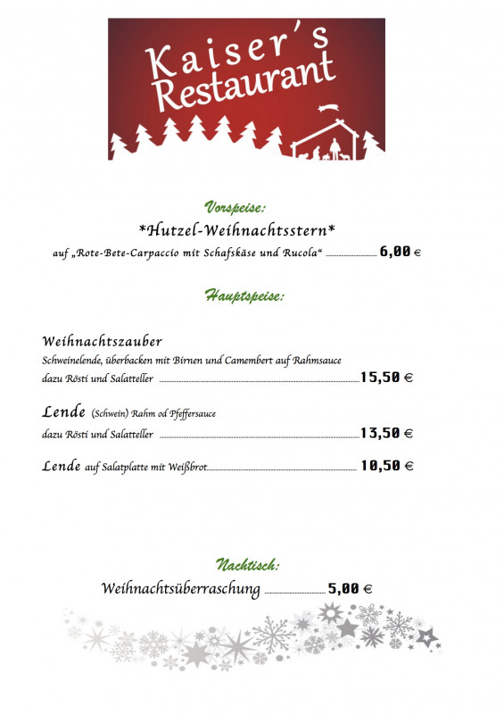 50s Diner Menu Template New Das Restaurant Kaiser In Unterpreppach Erwartet Sie Mit