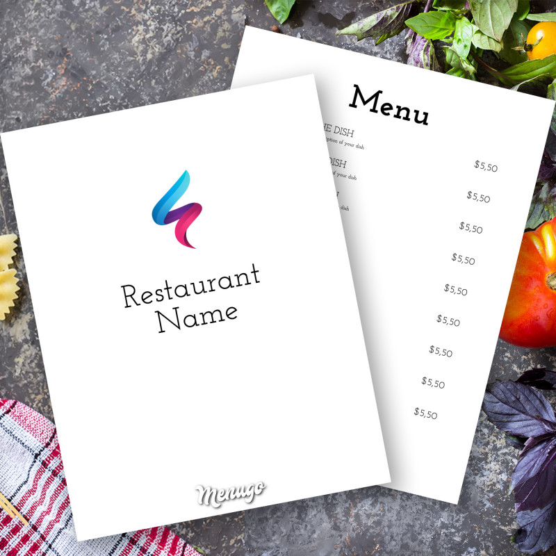 50s Diner Menu Template New Menugo Restaurant Menu Templates