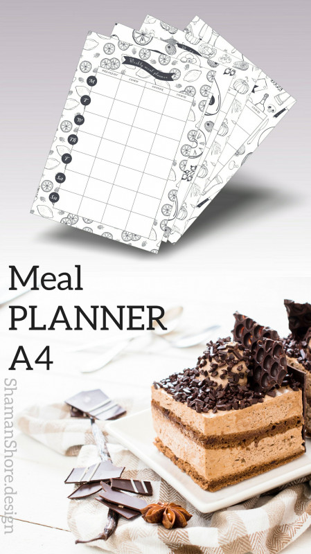 7 Day Menu Planner Template New Shshprintables Meal Plan Calendar Template Printable