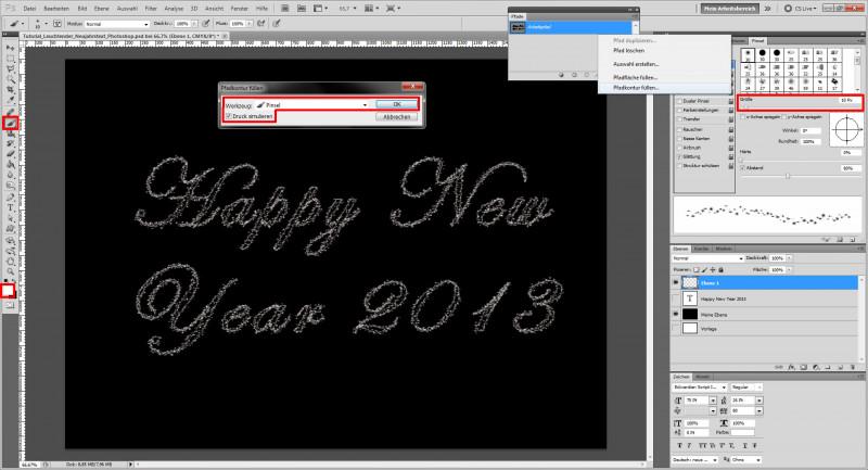 Adobe Illustrator Menu Template Awesome Tutorial Glitzerschrift Mit Photoshop Erstellen A Saxoprint