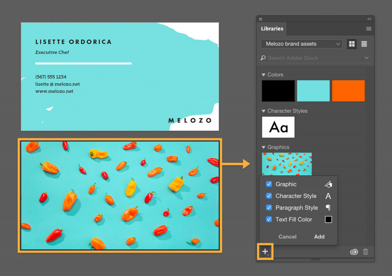 Adobe Illustrator Menu Template Unique Manage Assets With Creative Cloud Libraries Adobe Creative