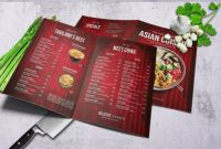 Asian Restaurant Menu Template New asian Bifold A4 Us Letter Food Menu Template Psd Download