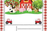 Baby Shower Menu Template Free Unique Free Farm Party Invitation Template Printable Farm Party