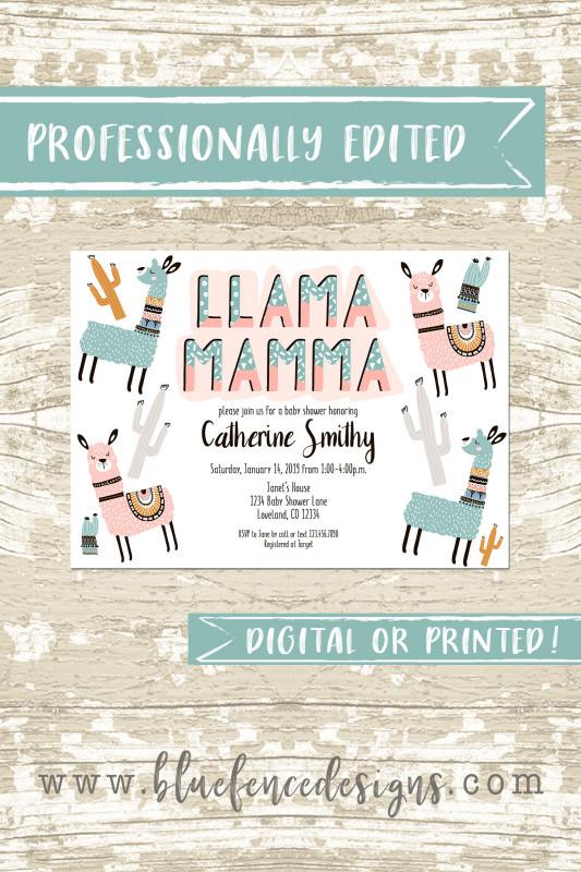 Baby Shower Menu Template Free Unique Llama Mamma Baby Shower Invitation Template Boy Or Girl Llama Mamma Gender Neutral Llama Baby Shower Invite Llama Party Printed Or Diy