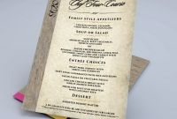 Blank Dinner Menu Template Awesome Waterproof Menu Restaurant Menu Printing Waterproof