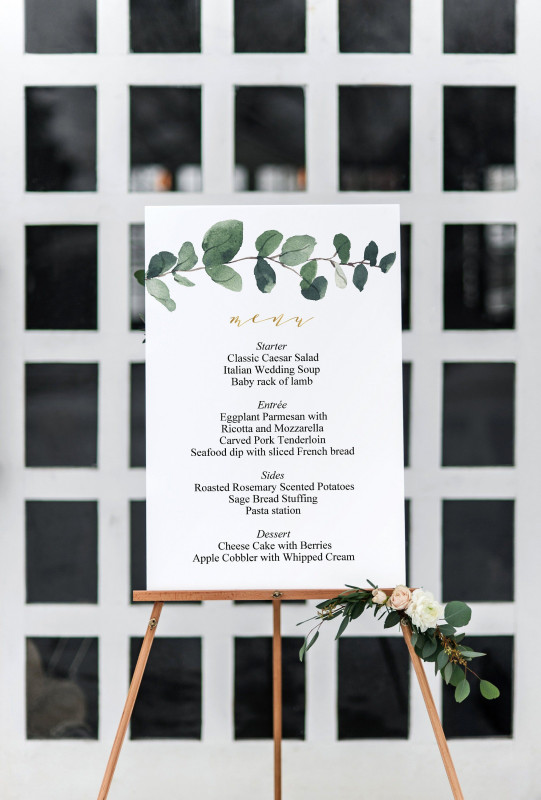Blank Dinner Menu Template New Greenery Wedding Menu Board Sign Printable Template Editable