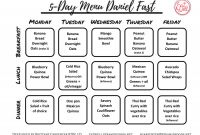 Breakfast Lunch Dinner Menu Template New Daniel Fast 2 5 Day Menus with Recipes Eatwell Price Cutter