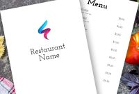 Breakfast Menu Template Word Unique Menugo Restaurant Menu Templates