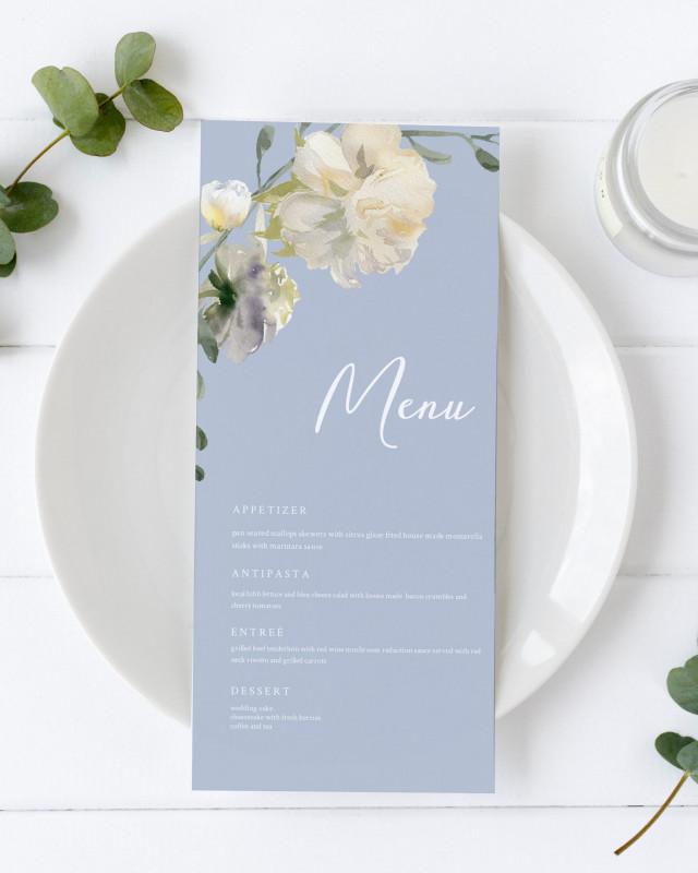 Bridal Shower Menu Template Unique Wedding Menu Template Dinner Word Etsy Design Templates Free