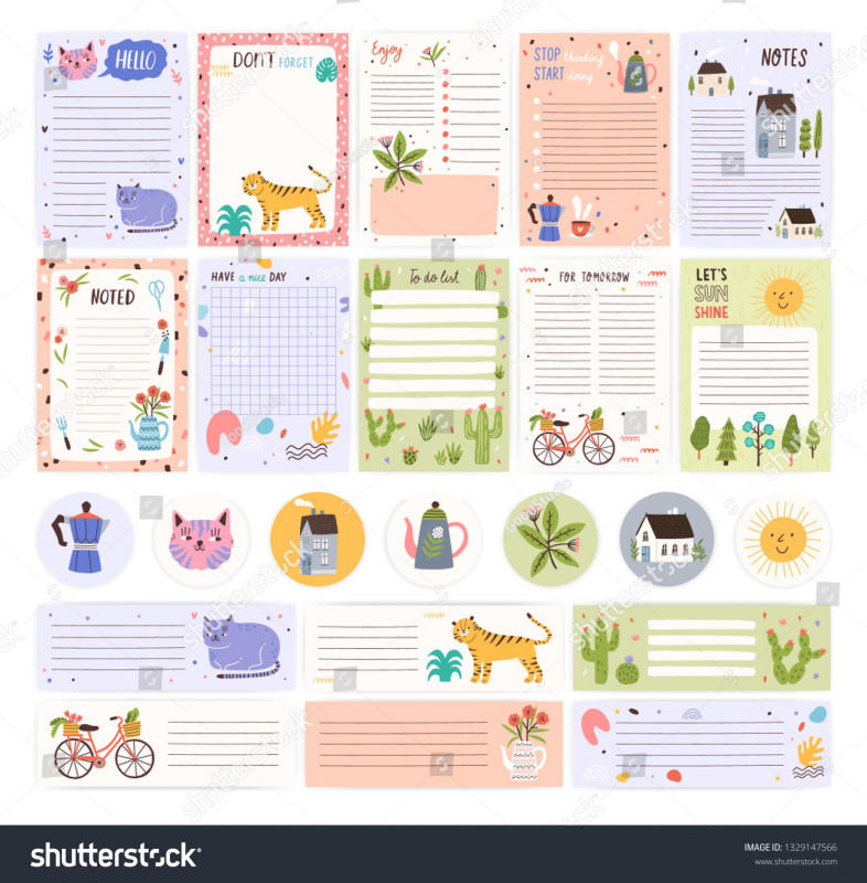 Child Care Menu Templates Free Unique Collection Weekly Daily Planner Pages Stickers Stock Vector