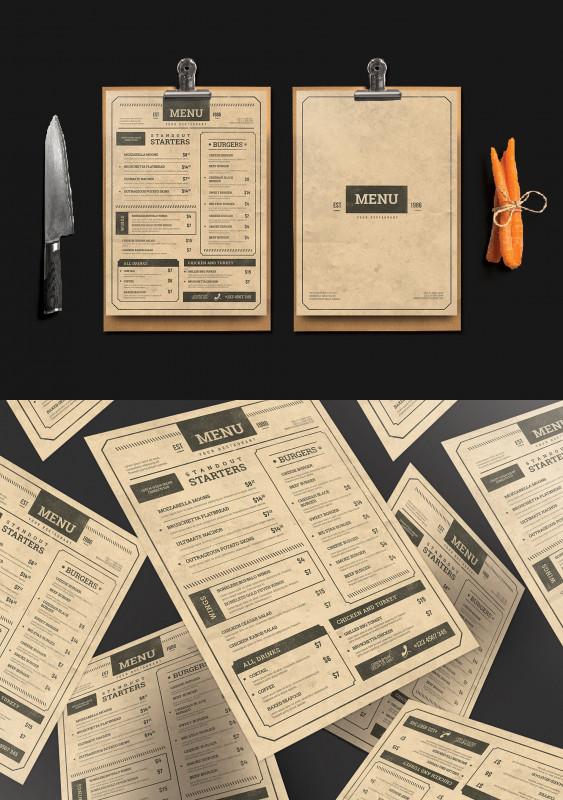 Cocktail Menu Template Word Free New Vintage Menu Templates Psd Vintage Menu Menu Card Design
