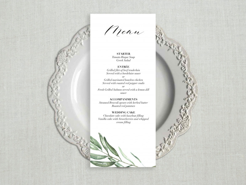 Css Menu Templates Free Download New Wedding Menu Template Free Printable Templates For Download