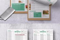 Digital Menu Board Templates Unique Elegant Modern Menu Template Psd A4 300 Dpi High