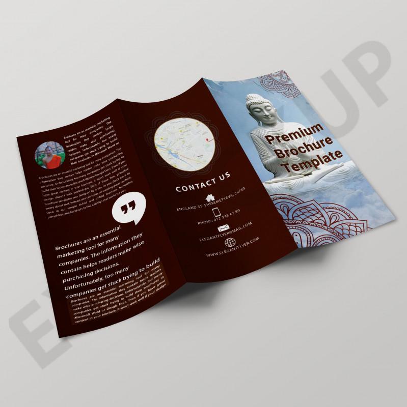 Digital Menu Templates Free New Buddha Tri Fold Brochure Template Brochure Template Free