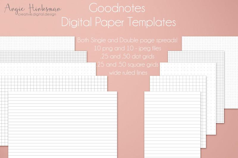 Digital Menu Templates Free New Bullet Journal Digital Planner Paper Templates For Goodnotes