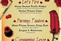 Diner Menu Template New Valentines Day Flyer Menu Bundle V5 Flyer Day