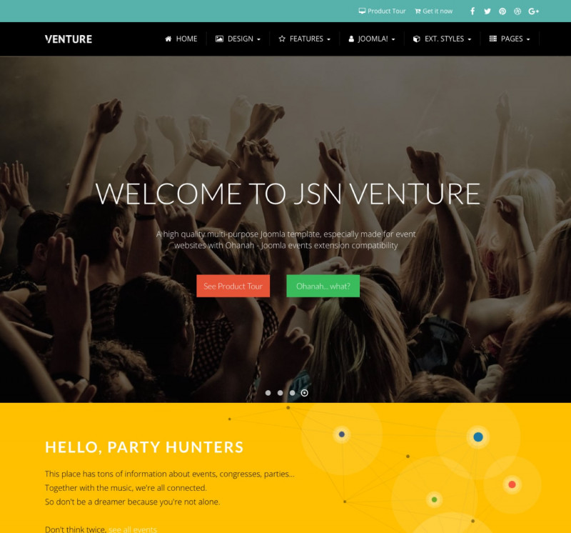 Drop Down Menu Templates Free Download Unique Jsn Venture 2 Creative Design Template for Joomla event