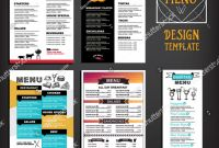 Editable Menu Templates Free New Restaurant Cafe Menu Template Design Food Stock Vector