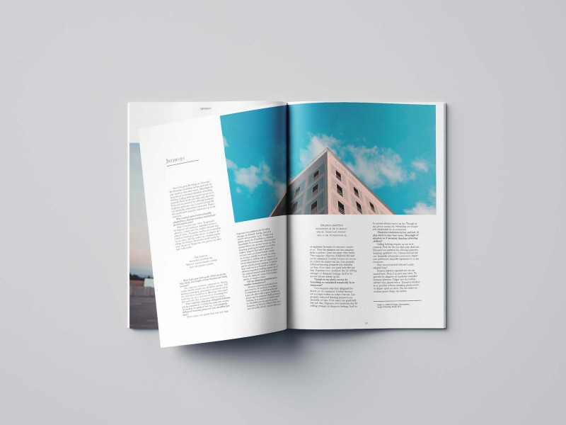 Editable Menu Templates Free Unique Free Minimal Magazine Template 24 Pages