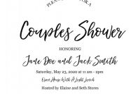 Fancy Menu Template Free New A Laid Back Open House Couples Shower Couples Wedding