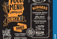 Fast Food Menu Design Templates New Burger Food Menu Template For Restaurant With Chefs Hat