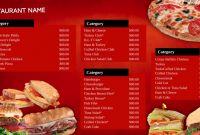 Fast Food Menu Design Templates New Professional Digital Signage Templates Signagecreator