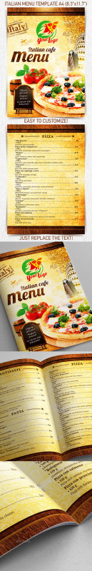 Free Bakery Menu Templates Download Awesome Pizza Graphics Designs Templates From Graphicriver