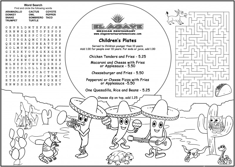 Free Cafe Menu Templates For Word Unique Childrens Menus Kids Coloring Menus For Restaurants