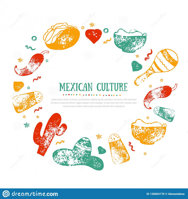 Free Cafe Menu Templates for Word Unique Grunge Mexican Culture Frame for Food Restaurant Menu Logo