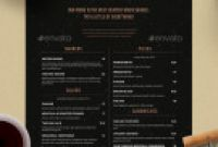 Free Printable Dinner Menu Template New Menu Templates From Graphicriver