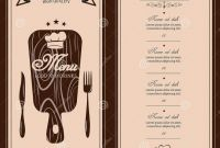 Free Printable Dinner Menu Template Unique Restaurant Menu Template Vector Menu Brochure for Cafe
