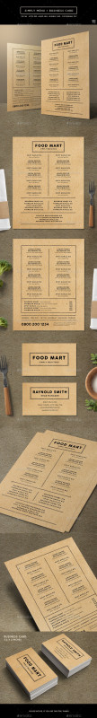 Free Printable Restaurant Menu Templates Unique Simply Brown Menu Business Card
