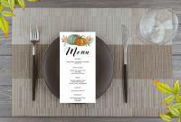 Free Printable Restaurant Menu Templates Unique Thanksgiving Menu Template Autumn Fall Dinner Free Printable
