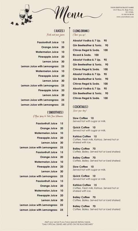 Free Restaurant Menu Templates For Microsoft Word New Pin By Joanna Keysa On Free Tamplate Free Menu Templates